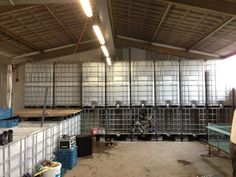 biofilters being built at the Fish Room at Uit Je Eigen Stad