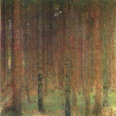 "Gustav Klimt ""pine forest"""