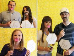 sweet abode: Gender Reveal Party photo booth Love the idea of a photo booth, and of course the mustaches...