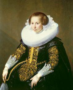 Portrait de Mrs van Voorst, Paulus Moreelse
