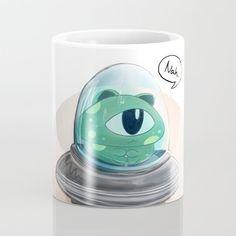 Alien cat Coffee Mug by chaploart | Society6
