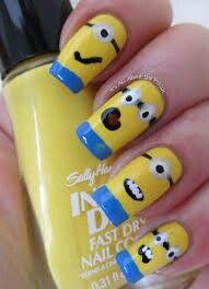 Beautiful minion nails
