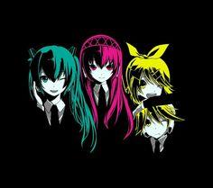 Miku, Luka, Rin e Len