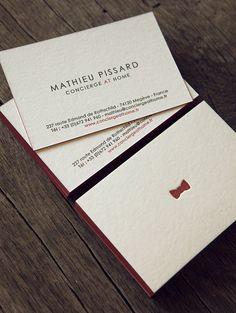 Cartes de visite 2 couleurs recto verso sur buvard 500g / letterpress business cards in two colors onto 500gsm PEFC paper