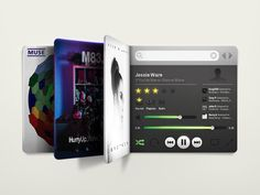 Concept: Mini Spotify by James Oconnell.