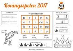 Placemat voor bij het Koningsontbijt van 2017 voor groep 1/2 en groep 3/4.