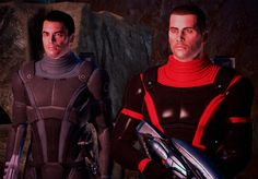 Screenshot by @magerose on tumblr: Kaidan Alenko and John Shepard, Mass Effect (ME1)