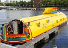 """So we sailed on to the sun, Till we found the sea green, And we lived beneath the waves, In our yellow submarine."" This is Liverpool's very own Yellow Submarine Hotel! A unique Beatles-themed 5 Star experience right on Albert Dock. Les Beatles, Places Around The World, Around The Worlds, Liverpool Home, Liverpool England, Liverpool Docks, Liverpool History, Floating Hotel, Viajes"