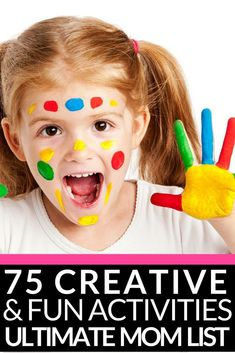 Ultimate Kids Activities Cheat Sheet! 75 Creative Activities for Kids | Looking for fun things for kids to do at home on weekends, rainy days, spring break, or during the summer months when they're bored? Whether you're looking for arts and crafts, LEGO activities, DIY fun, easy STEM projects, or fun family games we've got something your kids will love! From toddlers to tweens and teenagers there is an activity for every age on this list of the best boredom busters! #kidsactivities #kidscrafts