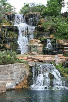 Photo about Man made waterfall at Spring Park in Tuscumbia, Alabama. Image of splashing, waterfall, running - 5801781 Beautiful Waterfalls, Beautiful Landscapes, The Places Youll Go, Places To Go, Florence Alabama, Garden Waterfall, Waterfall House, Water Garden, Backyard Waterfalls