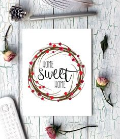 Home Sweet Home New Home Gift Gift for Couple by CraftyCowDesign