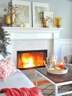 Alluring and warm fall living room decor @pattonmelo