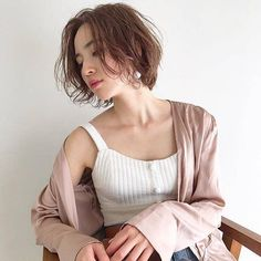 About this length for a new look Short Hair Cuts, Short Hair Styles, Cabello Hair, Hair Arrange, Under My Skin, Bob Styles, Natural Curls, Beautiful Asian Women, Cut And Style