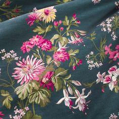 FLORAL PRINTED DENSE COTTON FABRIC  - Fabrics Dubai by Pani Lisnewska Co.