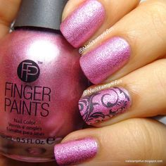 Finger Paints - Pretty Tough Pink - swatched on nail wheel - $4.00