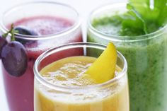 Healthy juice & veggie smoothies to start your morning off right!