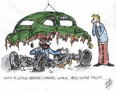 VW Volkswagen comic cartoon