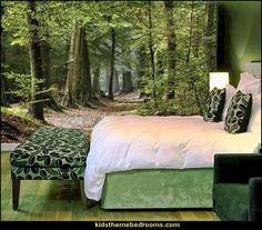 Serenity wall mural forest wall mural tree wall murals
