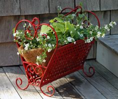 Magazine rack turned planter