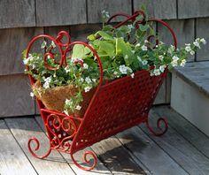 Magazine rack turned planter