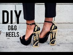 Dolce and Gabana have the craziest most amazing shoes and I knew I just had to make a pair inspired by them! These embellished heels have been in heavy rotat...
