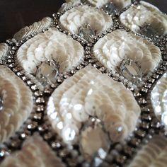 #embroidery #hautcouture #handmade #wedding #bridal #jewelry #beads #リュネビル刺繍 #ハンドメイド #ブライダル #ウェディング #ジュエリー #ビーズ #スパンコール
