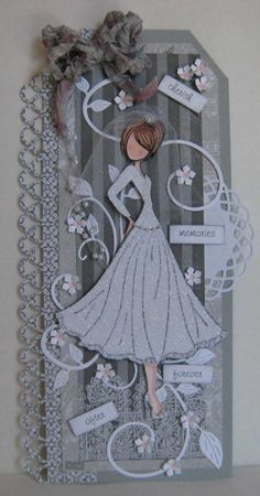 Julie Nutting - Mixed Media Prima Doll Stamp I love the new mixed media doll stamps by Julie Nutting for Prima. Prima Paper Dolls, Prima Doll Stamps, Papercut Art, Card Tags, Gift Tags, Wedding Tags, Handmade Tags, Vintage Crafts, Card Maker