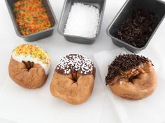 Dipped Cider Doughnuts : Cider doughnuts get a flavor boost when dipped in white chocolate, semisweet chocolate or ready-made dulce de leche. Sprinkles make them festive and extra tasty, especially if you try coarse sanding sugar in autumnal hues, Swedish pearl sugar or real chocolate sprinkles.