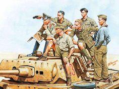 A. Karaschuk. Erwin Rommel and the tank crew