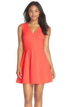 Back Cutout Fit & Flare Dress
