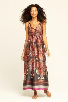 Briony Printed Silk Dress  by CALYPSO St. Barth