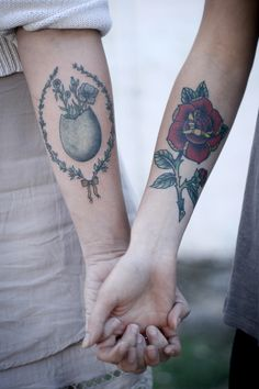 both tattoos by alice carrier at anatomy tattoo in portland, oregon