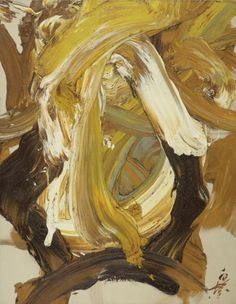 KAZUO SHIRAGA FUDOKI Oil on canvas. 1988 571/2  by 441/4  in.   146 by 112cm.