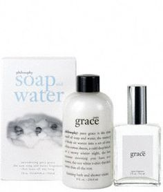 Philosophy Pure Grace Soap and Water Gift Set (Spray Fragrance 2 Ounce, Bath/Shower Cream 8 Ounce) $50.00