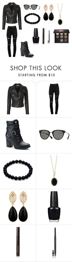 """Onyx Black"" by artisticgirl2003 ❤ liked on Polyvore featuring IRO, Yves Saint Laurent, Apt. 9, Paul Smith, Effy Jewelry, Carousel Jewels, OPI, Hourglass Cosmetics, Estée Lauder and MAKE UP FOR EVER"