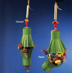 This foraging toy would be easy to recreate with a paper towel tube.