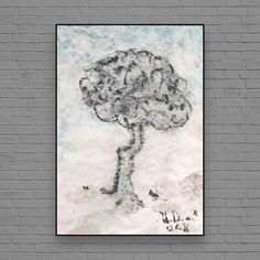 """ARTFINDER: Tree by Ulugbek Doschanov - """"Tree"""" Art work size A3, - 11,6x16,5 inches 29X42 cm. Original art work. Acrylic, Tempera, on Craft Paper. Signed by artist.  Please let me know if you ..."""