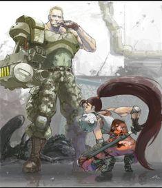 Major Dutch Schaefer & Lt. Linn Kurosawa from Alien Vs. Predator from Capcom