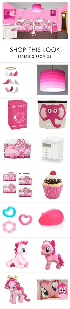 """""""Pinkie pie"""" by sterlingkitten on Polyvore featuring interior, interiors, interior design, home, home decor, interior decorating, Honey-Can-Do, 3 Sprouts, South Shore and My Little Pony"""