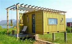 A shipping container house – Brakka Units Contener House, Dome House, Tiny House, Container Van House, Cargo Container Homes, Container Store, Bamboo Containers, Shipping Container Design, Earth Homes