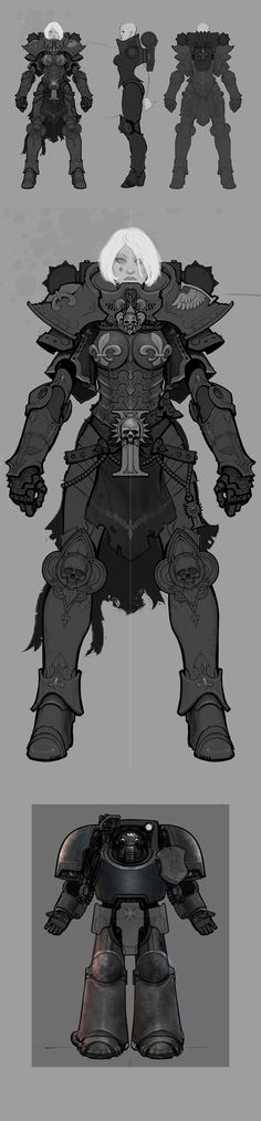 Adepta Sororitas ( + Tactical Dreadnought Armour! ) by Ted Beargeon, via Behance