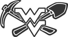 Coal Miner Decals | WVU Coal Miner Pick Shovel Decal Sticker FAST FREE SHIPPING WV Miner