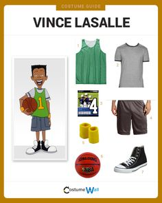 Dress Like Vince LaSalle from the Disney show, Recess. See additional costumes and cosplays of Vince and the rest of his friends. Got Costumes, Cartoon Costumes, Family Costumes, Costume Ideas, Halloween 2020, Halloween Party, Halloween Costumes, 90s Party, Prince Of Bel Air