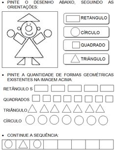 Atividades com figuras geométricas planas Acting, Holga, Activities, Gisele, Education, School, Letter T Activities, Preschool Literacy Activities, Fun Math Activities