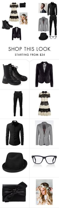 """""""Date Night!!!"""" by daughterofwonderland on Polyvore featuring H&M, RED Valentino, Emporio Armani, Levi's, Tom Ford, Witchery and Emily Rose Flower Crowns"""