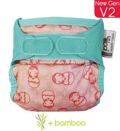 Close Parent Pop-in Printed Reusable Nappy Bamboo Russian Doll
