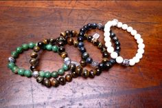 Stretch Bead Bracelets.  These look sweet alone or stacked.  New from GOOD ART.