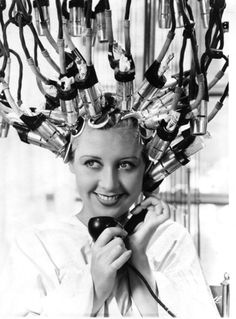 "Joan Blondell  1932---getting those ""Marcel"" waves!"