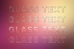 Glass Text Styles. Layer Styles