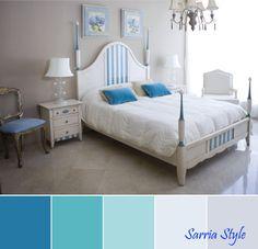 #Dormitorio #clasico italiano de madera pintado en #blanco y azul. #mueblesarria #sevilla #cordoba #marchena